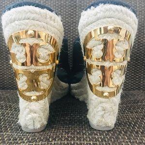Kate Spade Black Espadrille Sandals 8 1/2